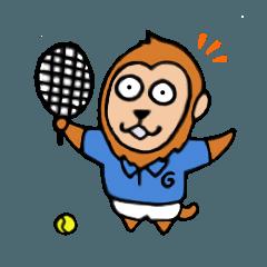 テニスをするサル!