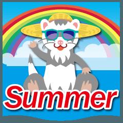 夏に使える〜人気のフェレットスタンプ