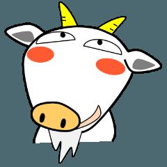 [LINEスタンプ] はい、しろヤギさん (1)