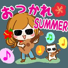 暑い夏も楽しいスタンプ♪【真夏~残暑】