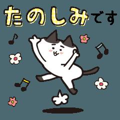 [LINEスタンプ] 動く![まゆげ猫たちの日常]大人のゆる敬語