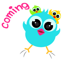 Colorful Chick Animated