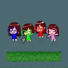 仲良しゴルフ女子4人組