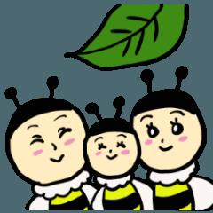 ゆるーい蜂と蝶々